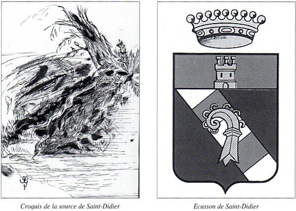 source et écusson de Saint-Didier