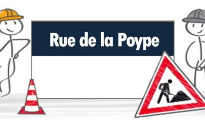 Travaux : Rue de la Poype